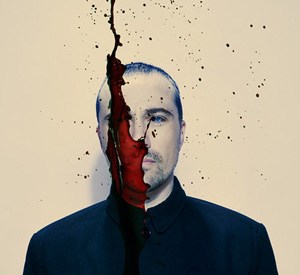 Self-portrait with blood splatter, 2008
